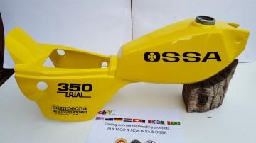 OSSA TR80 GAS TANK BODY KIT OSSA TR GAS TANK OSSA TR FUEL TANK OSSA YELLOW  OSSA 350 TRIAL FUEL TANK imágenes
