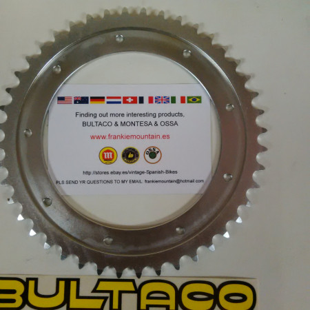 REAR SPROCKET BULTACO PURSANG NEW 44z BULTACO FRONTERA REAR SPROCKET imágenes