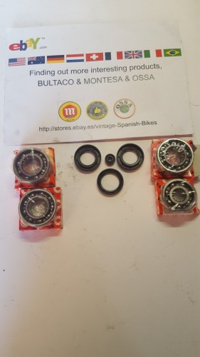 MONTESA ENDURO ENGINE BEARING + SEALS MONTESA CAPPRA BEARINGS KIT AND SEALS imágenes