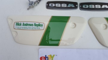 OSSA MICK ANDREWS SIDE PANELS KIT NEW OSSA MAR SIDE PANELS OSSA SIDE PANEL NEW imágenes