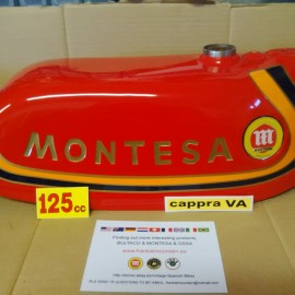 MONTESA CAPPRA 125 VA GAS TANK + SIDE PANELS + NUMBER PLATE NEW imágenes