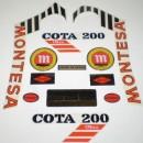 MONTESA COTA 200 KIT DECALS FULL BIKE NEW