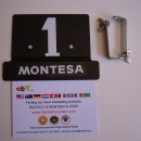 MONTESA COTA 25 FRONT NUMBER PLATE NEW