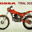 OSSA 303 FENDERS SET FRONT AND REAR FENDER OSSA RED OSSA 303 FENDER OSSA 303 TRIAL
