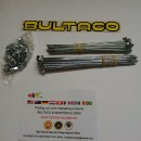 BULTACO MERCURIO 175 GT SPOKES AND NUTS KIT 2 WHEELS BULTACO METRALLA GT SPOKES KIT NEW