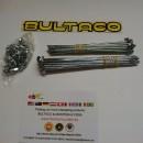 BULTACO MERCURIO 175 GT SPOKES AND NUTS KIT 2 WHEELS BULTACO METRALLA GT SPOKES KIT NEW