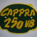 MONTESA CAPPRA 250 VB FRONT NUMBER PLATE + DECAL