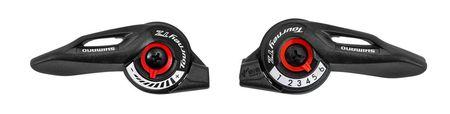 Set manete schimbator Shimano SLTZ500LNB+R6A 3x6v