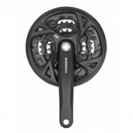 Angrenaj pedalier Shimano FCM371 44/32/22T negru 175 mm cu CG pt 9V