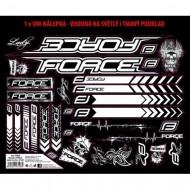 Autocolante cadru MTB logo Force 37x27 cm negru cu alb