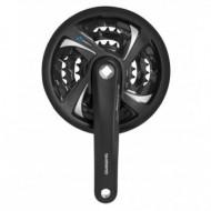 Angrenaj pedalier Shimano FCTX801 48/38/28 175 mm cu CG negru
