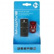 Set lumini cu acumulator M-Wave, Atlas 20 USB