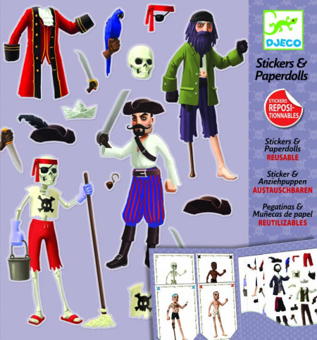 Abtibilduri repozitionabile Djeco - pirati