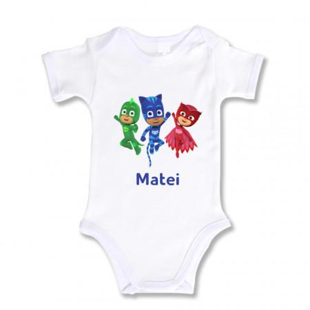Body Bebe Personalizat Eroi in pijama