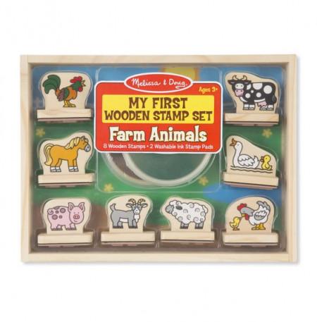 Primele mele stampile Animale de la ferma Melissa and Doug
