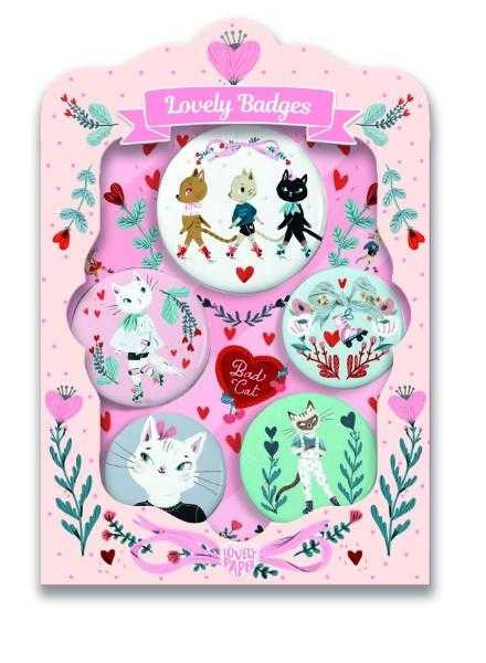 Set insigne Djeco, Pisici dragalase