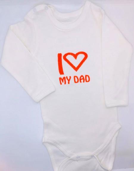 Body alb brodat love dad
