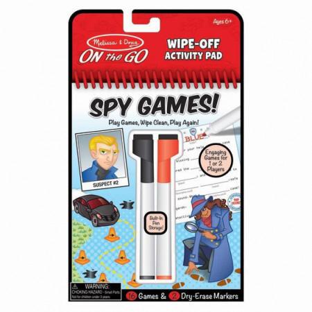 Carnet reutilizabil cu activitati si jocuri Spionaj-Melissa And Doug