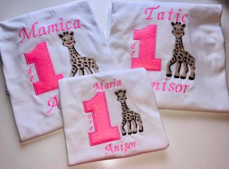 Set brodat Girafa Sophia