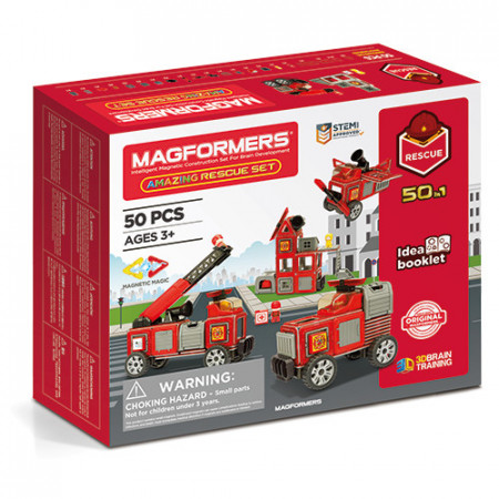 Set magnetic Magformers, Uimitorul set cu vehicule de interventie