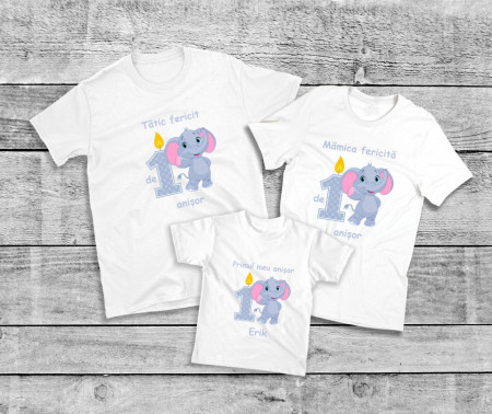 Set Printat Aniversar Elefantel