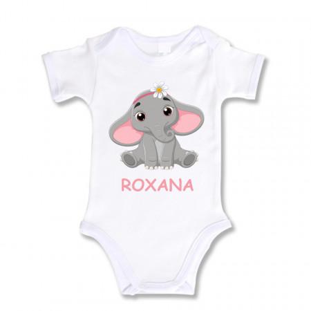 Body Bebe Personalizat Elefantel