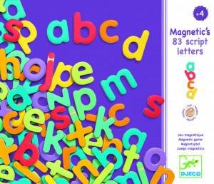 83 Litere magnetice colorate pentru copii- Djeco