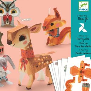 Animale jucarii din hartie Djeco