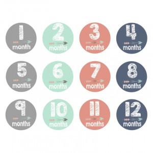 """Autocolantele """"Primele 12 luni"""""""