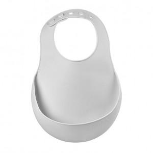 Baveta silicon Beaba Light Grey
