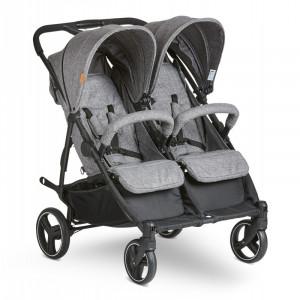 Carucior pentru gemeni Twin woven-grey Abc Design 2021