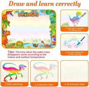 Covorasul Magic Drool Dino- 100x70cm - Jucarie educativa de colorat cu apa