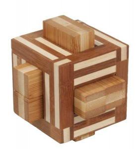Joc logic IQ din lemn bambus Double sticks