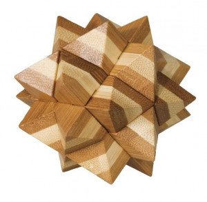 Joc logic IQ din lemn bambus Star