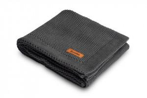 Paturica de bumbac tricotata Sensillo 100x80 cm Grafit