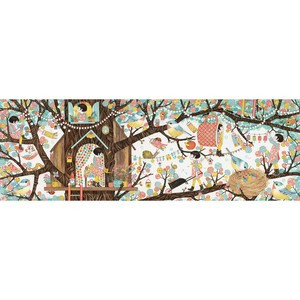 Puzzle Djeco Casuta din copac, 200 piese