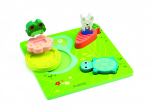 Puzzle relief Djeco 1,2,3 froggy