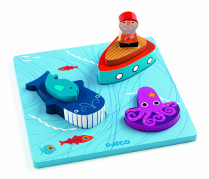 Puzzle relief Djeco 1,2,3 Moby