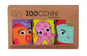 Set 3 Chilotei Antrenament, Zoocchini, Fetita, 3-4 ani, 100% Bumbac Organic, Ocean