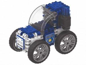 Set de construit Clicformers-Politie, 72 piese