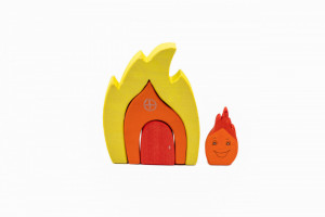 Set handmade Marc toys, Casuta focului