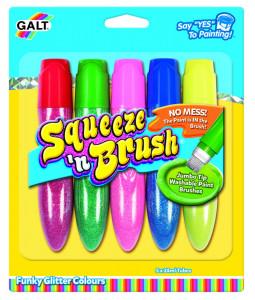Squeeze'n Brush - 5 culori cu sclipici