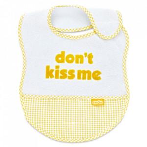 Baveta BabyJem din bumbac Dont Kiss Me