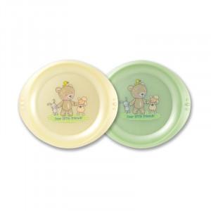 Farfurie plata LittleFrends Vanilla 2/set 6L+ Rotho-babydesign
