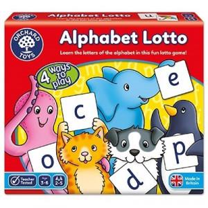 Joc educativ loto in limba engleza Alfabetul ALPHABET LOTTO