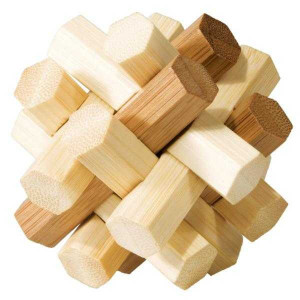 Joc logic IQ din lemn bambus Double Knot
