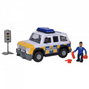 Masina de politie Simba Fireman Sam, Sam Police Car cu figurina si accesorii