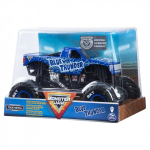 MONSTER JAM MACHETA METALICA SCARA 1 LA 24 BLUE THUNDER