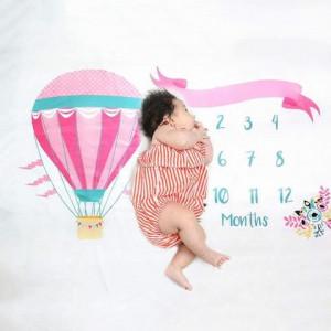 Paturica Milestone subtire pentru fotografii memorabile Balon