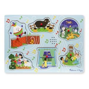 Puzzle cu sunete Cantecele copilariei 2 - Melissa and Doug